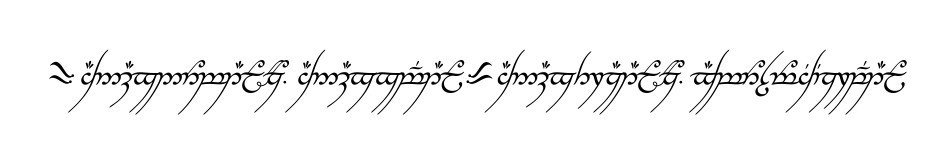 The Lord of the Rings, The One Ring, Inscription